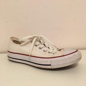 👟 white low top converse 👟